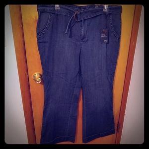 NWT A.n.a. 22W Women's Plus Wide Leg Jeans